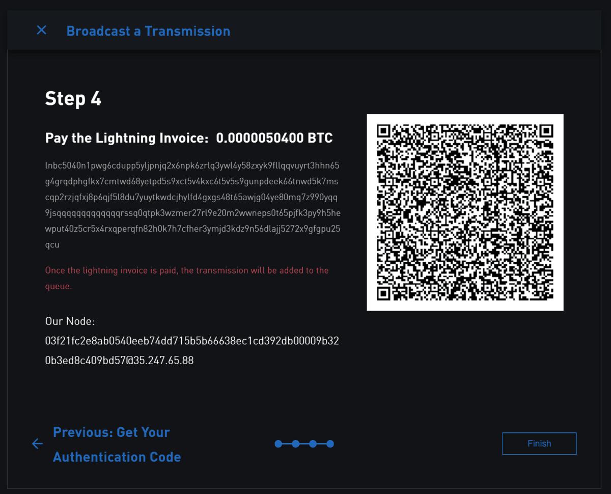 Pay Bitcoin Lightning Invoice